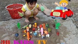 Trucks For Kids, Wild Zoo Animal Toys For Kids   Songs For Kids