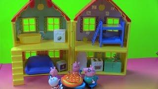 Ngôi Nhà Xinh Đẹp Của Heo Peppa Pig/New Peppa Pig's Playhouse &Make Play-Doh Pizza, Muddy Puddle!