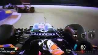 Sergio Pérez Fantastic Overtakes | Singapore 2014