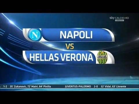 Napoli-Verona 6-2 Sintesi Sky Sport 26/10/14