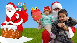 SANTA SPOTTED IN REAL LIFE! McDonalds Drive Thru with Santa Clause || Jai Bista Show