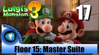 Luigi's Mansion 3 - Floor 15 Master Suite - Save Mario & Peach Walkthrough