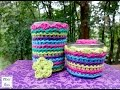 How to Crochet A Jelly Jar Cover, Episode 225