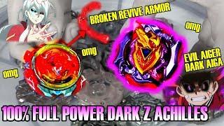 UPSET! REVIVE PHOENIX BROKE! 100% DARK FULL POWER Z-ACHILLES DESTROYS Beyblade Burst Super Z超ゼツ