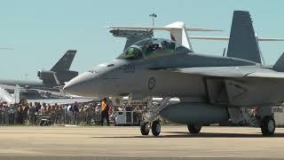 Avalon Airshow 2011 - B1, Singapore F16, Super Hornet, Classic Hornets Battle Scenes