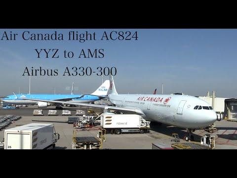 TRIP REPORT: Air Canada Flight AC824 Toronto YYZ to Amsterdam Schipol AMS Airbus A330-300 Economy
