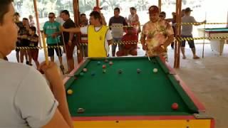 Vavá vs Áurio. Super jogo de sinuca em PVH Ro