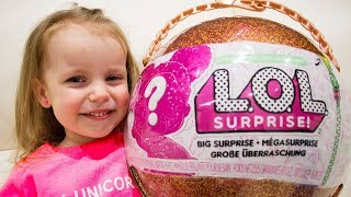 LOL Surprise Giant Ball Big & Lil Sisters Baby Dolls unboxing with Gaby and Alex