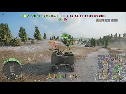 World of Tanks Xbox one M44 1 Kill ( 1 min in )