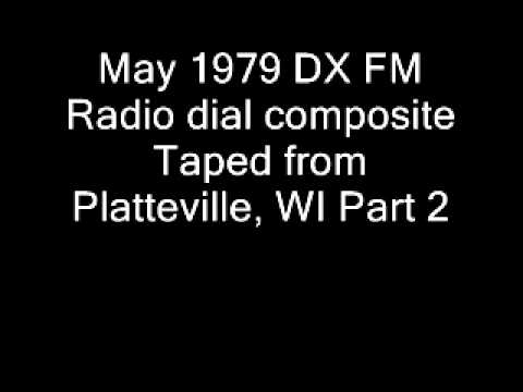 May 1979 DX FM Radio Dial Composite, Platteville, WI, Part 2.wmv