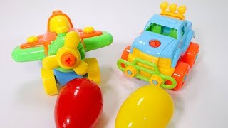 Baby Car Toy Assembly / Kids Toy Surpise Egg /Wheel on the Bus / Video for children