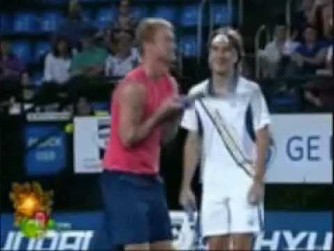 Dmitry tursunov and Tommy Robredo funny