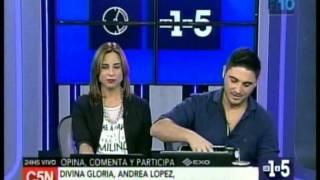 C5N -  DE1A5: LA VISITA DE DIVINA GLORIA, ANDREA LOPEZ, JIMENA PICCOLO Y NADIA DI CELLO