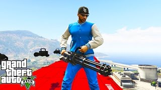 MINIGUN GOD!! GTA 5 Funny Moments