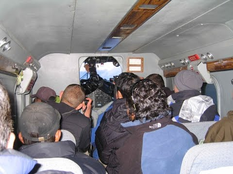 Lukla Gateway to Mount Everest airport scary cockpit inside view