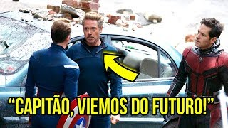 BOMBA! Tony Stark e Homem Formiga viajaram ao passado! Vazou Novas Imagens de Vingadores 4?!!