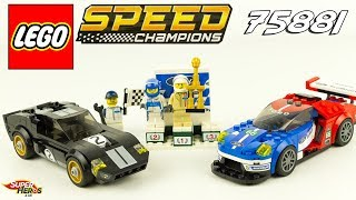 LEGO Speed Champions Ford GT40 1966 GT 2016 Speed Build 75881 Jouets Toys Youtube Kids Enfants