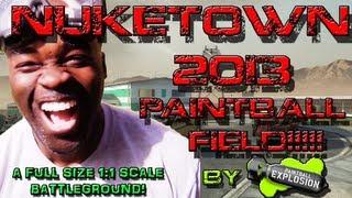 REAL LIFE NUKETOWN Paintball Field!?!?!?!