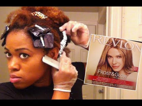 'Revlon Frost and Glow' on Natural Hair  'Foil Highlights' at Home