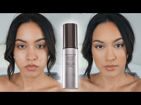OILY SKIN MIRACLE FOUNDATION   Hourglass Immaculate Foundation Review & Demo