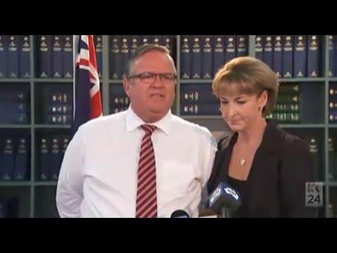 Ewen Jones comforted by Michaelia Cash as govt appoints special Clive Palmer liquidator
