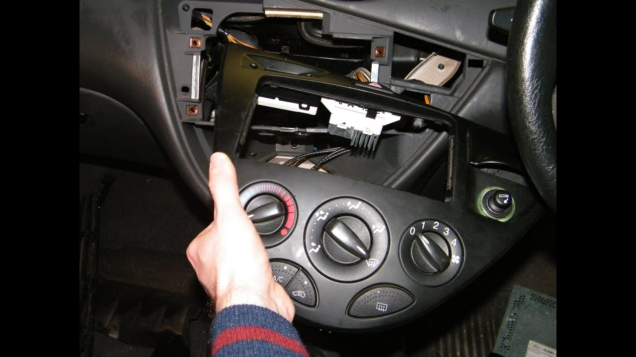 ford focus center console heater control panel removal