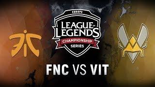 FNC vs. VIT - Week 2 Day 2 | EU LCS Summer Split | Fnatic vs. Team Vitality (2018)