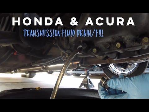 Transmission Fluid Drain/Fill Honda Acura DIY How To