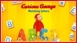 Curious George / Jorge el Curioso Matching Letters Funny Educational Practice Alphabet Game For Kids