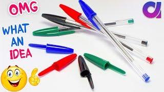 Best Out Of Waste Pen Caps Craft Idea   DIY Craft Project   Pen Cap Craft   Key Holder   Artkala 435