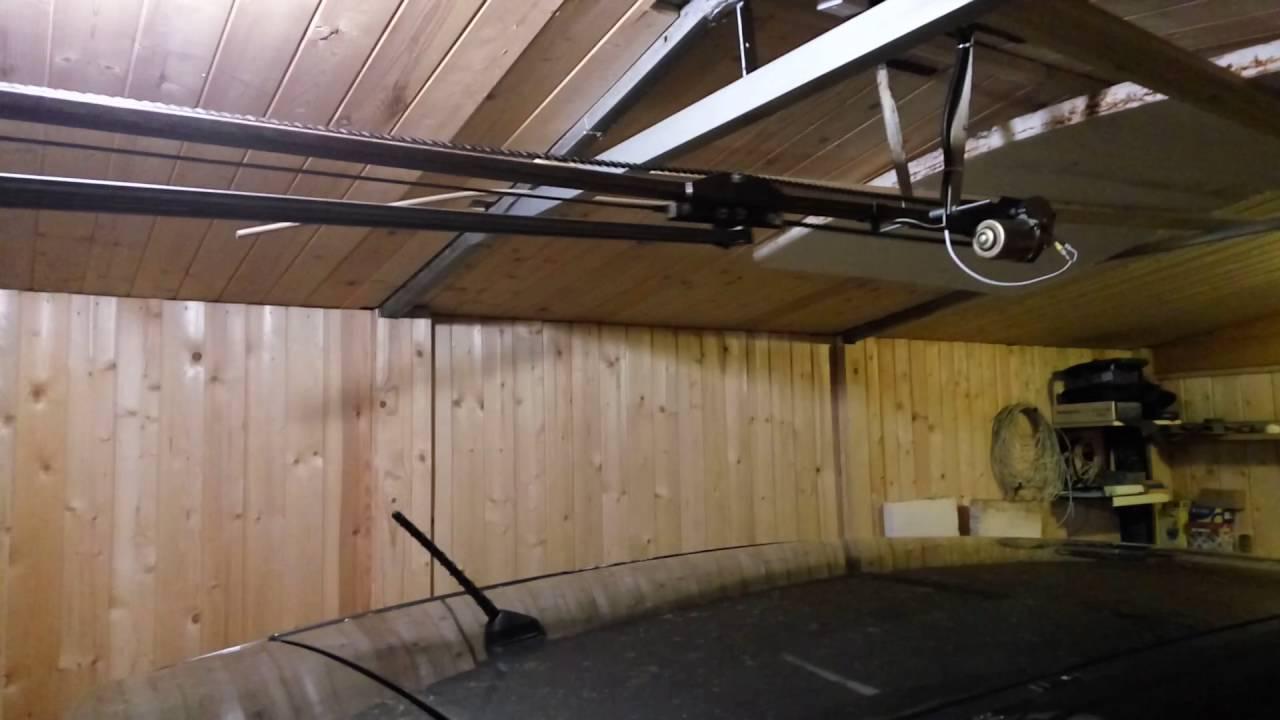 Самодельный электропривод для подъемных ворот 77