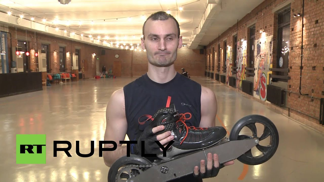 Russia: These electric rollerblades can hit 90 km/h!