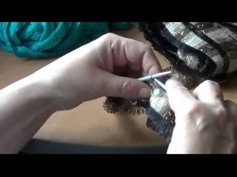 вязание из ленточной пряжи