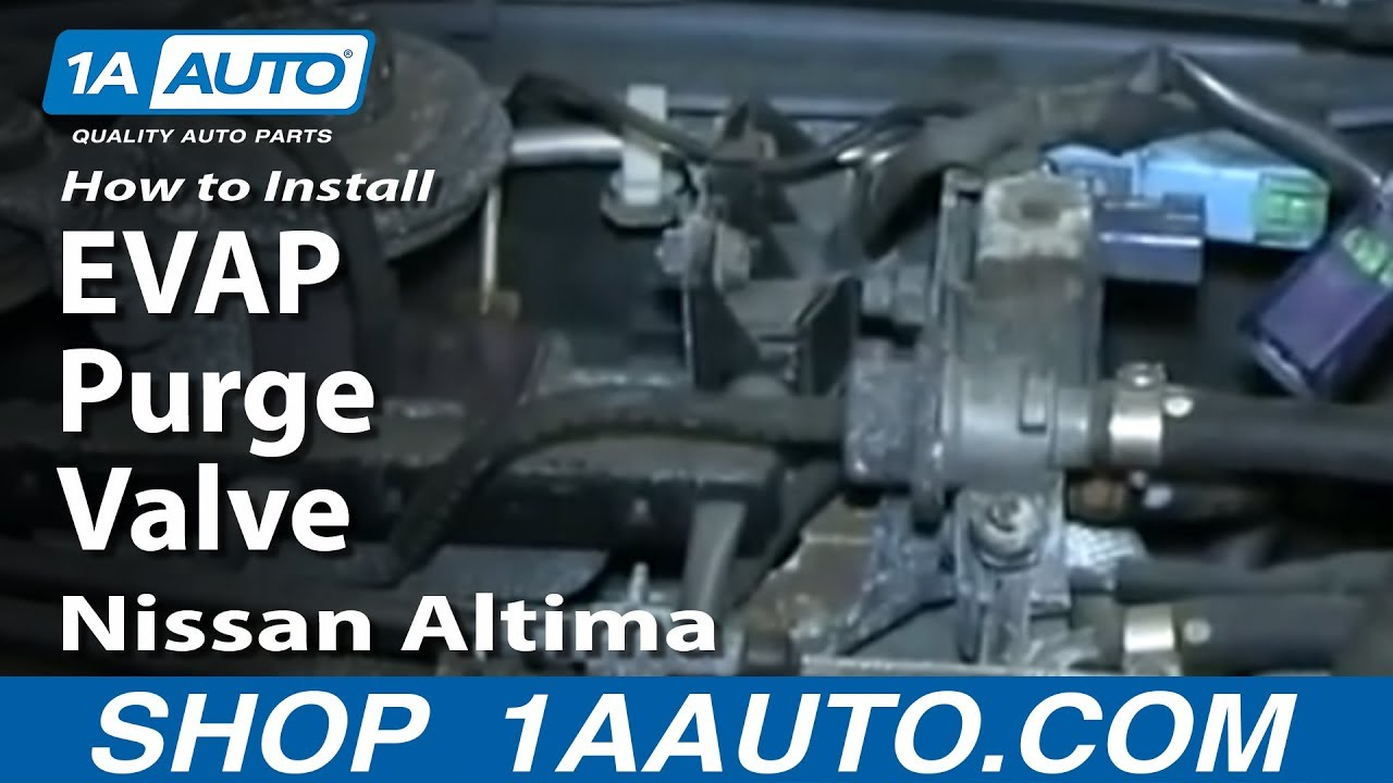 nissan altima p1441 code valve purge evap canister evaporative 1996 emissions replace install