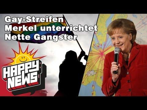 Gay-Streifen - Merkel unterrichtet nette Gangster - HAPPY NEWS