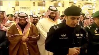صلاة الجنازة على الملك عبد الله بن عبد العزيز في جامع الإمام تركي في الرياض