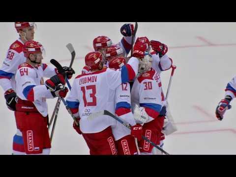 Олимпийская сборная России 4:3 (Б) СКА: Лучшие моменты / Team Russia 4:3 SKA: highlights