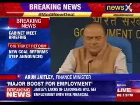 Arun Jaitley, Goyal address cabinet briefing