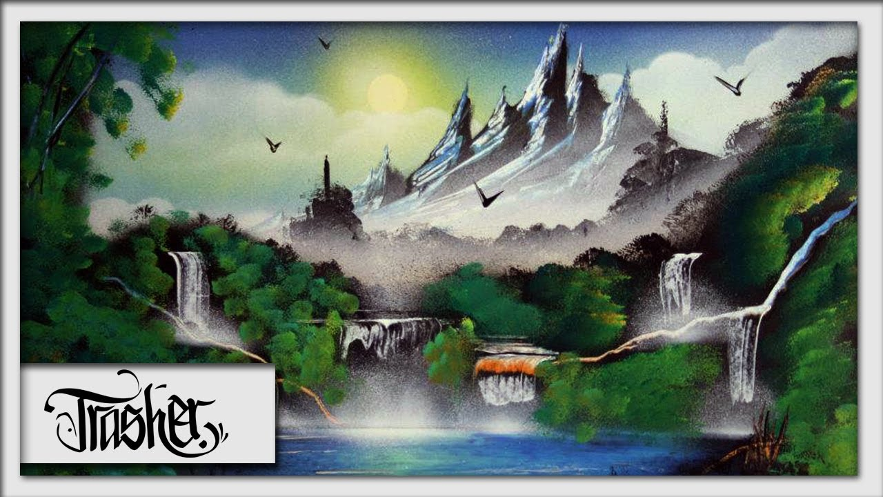 Spray Paint Art - Landscape by: TRASHER - YouTube