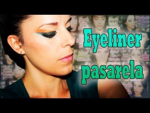 Maquillaje pasarela eyeliner colorido | Silvia Quiros