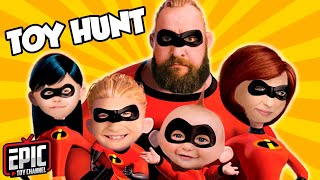 INCREDIBLES 2 Toy Hunt and Pretend Play As Dash and Violet from Incredibles 2 by Epic Toy Channel