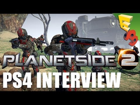 PlanetSide 2 for PS4 Gameplay and Interview! See the Improved Free to Play MMOFPS from E3 2013