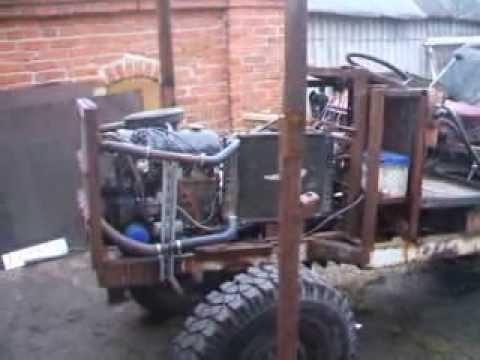 Самодельные трактора с двигателями от ваз