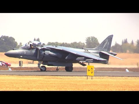 2014 AV8B HARRIER DEMO @ CALIFORNIA CAPITAL AIR SHOW
