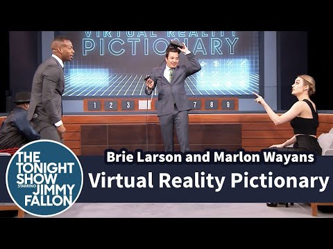 Virtual Reality Pictionary with Brie Larson and Marlon Wayans