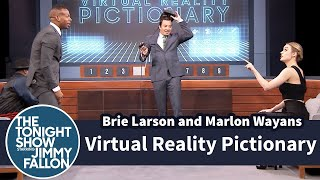 Brie Larson and Marlon Wayans Compete in Virtual Reality Pictionary