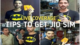 Live Coverage - How To Get JIO SIM,Reliance Digital Store,Some Tips & Doubts Clear