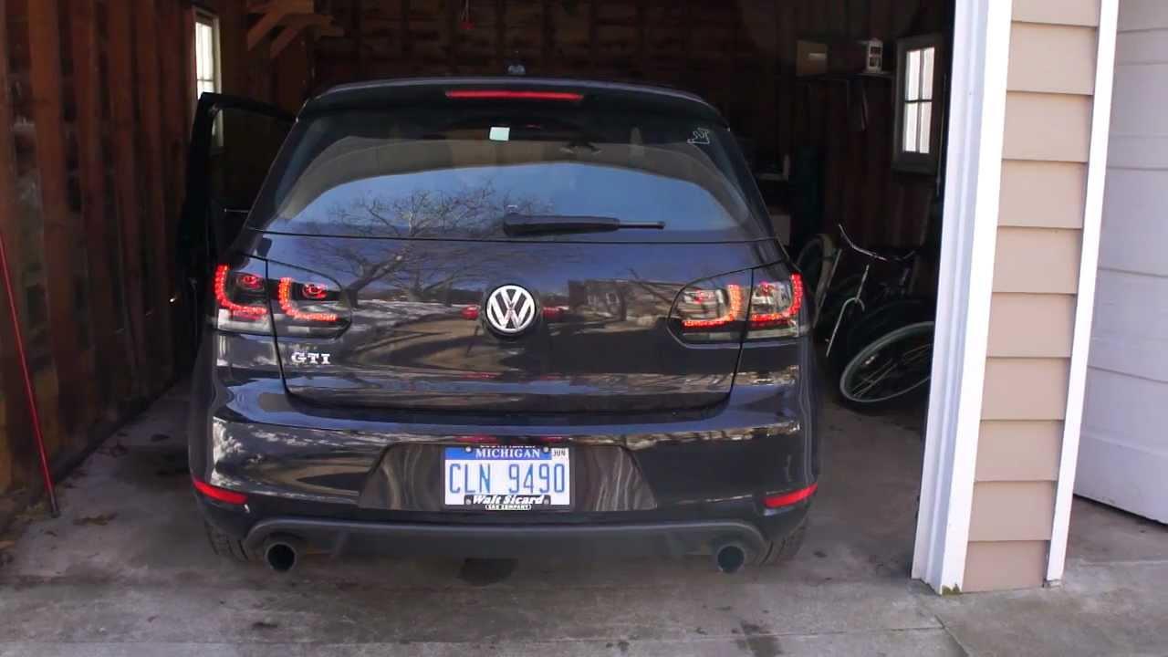 Golf Mk6 Black Smoke Led Taillights Youtube