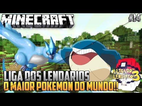 Minecraft: Liga dos Lendarios #14: O MAIOR POKEMON DO MUNDO!!