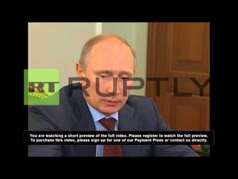 Russia: Putin and Medvedev talk Crimean development